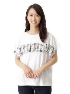 ドビーチェック+天竺Tシャツ