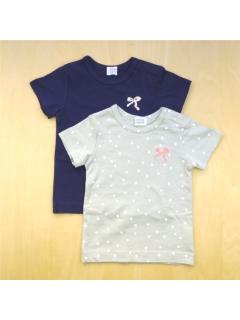 [ベビー]ガールズ半袖Tシャツ2枚組セット
