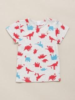 [ボーイズ]恐竜プリント半袖Tシャツ