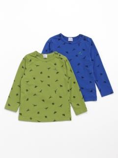 [ベビー・セット商品]2枚組み長袖Tシャツ