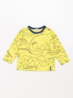 [ベビー・ボーイズ]ワンストロークダイナソー(恐竜)プリント長袖Tシャツ
