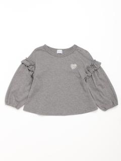 [ベビー]袖切替デザイン長袖Tシャツ