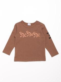 [ベビー・ボーイズ]恐竜方程式プリントボリュームシルエット7分袖