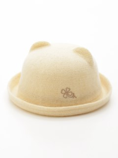 [ベビー]アニマルモチーフウールハット帽子(あったか)