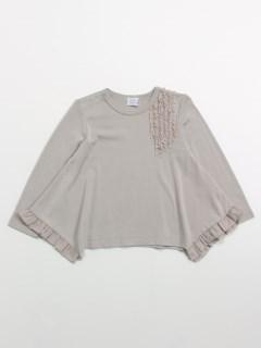 [ベビー]フリルポイントデザイン長袖Tシャツ
