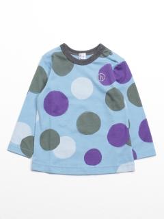[ベビー]カラフルドットプリント長袖Tシャツ
