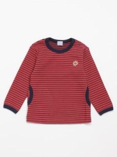 [ベビー・ボーイズ]ストレッチボーダー長袖Tシャツ