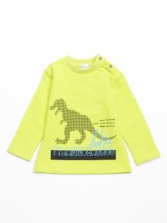 [ベビー・ボーイズ]恐竜プリント裏毛スウェットトレーナー
