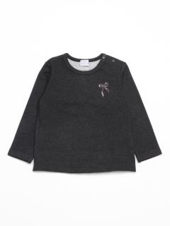[ベビー]ダブルジャージー起毛長袖Tシャツ