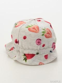 [ベビー]ベリーチェリープリント帽子
