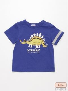 [ベビー・ボーイズ]「学研の図鑑 LIVE」コラボ 恐竜プリント半袖Tシャツ