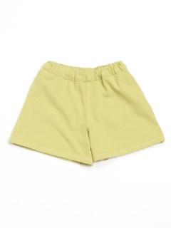 [ベビー]リボンアップリケ付きキュロットスカート