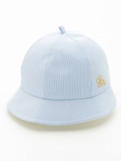 [ベビー・UVカット]ストライプキャップ帽子