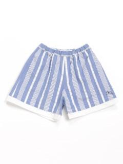 [ベビー]サッカーストライプキュロットスカート