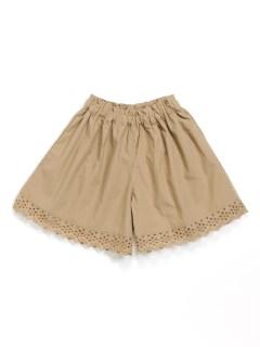 [ベビー]裾レースギャザーキュロットスカート