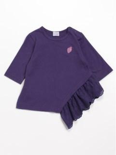 [ベビー]アシンメトリー7分袖Tシャツ