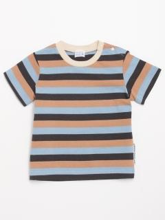 [ベビー・ボーイズ]マルチボーダー半袖Tシャツ