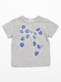 [ベビー・インセクトシールド]ビッグリボンプリント半袖Tシャツ