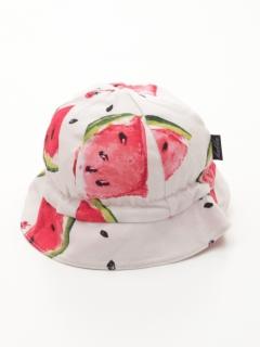 [ベビー]スイカプリント帽子