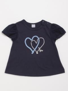[ベビー]ハートモチーフ半袖Tシャツ