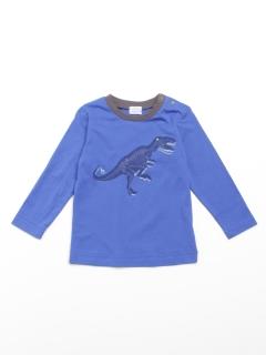 [ベビー・ボーイズ]恐竜プリント長袖Tシャツ