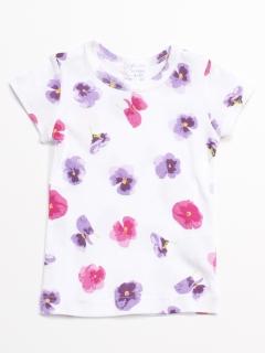 [ベビー]ピーチ/スミレ/キリンアルパカプリントインナー半袖Tシャツ