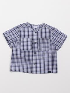 [ベビー・ボーイズ]チェックブロード半袖シャツ