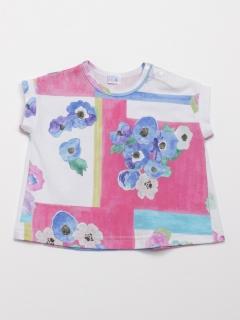 [ベビー]アネモネアートプリントTシャツ