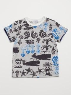 [ベビー・ボーイズ]シースタンププリント半袖Tシャツ