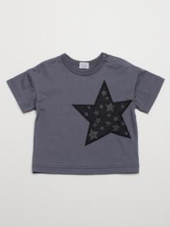 [ベビー・ボーイズ]星モチーフ付きオーバーサイズ半袖Tシャツ(UVカット)