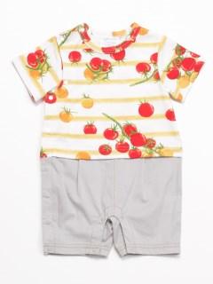 [ベビー・ボーイズ]プチトマトプリント半袖カバーオール