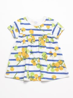 [ベビー]プチトマトプリントチュニック半袖Tシャツ