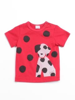 [ベビー]ドットダルメシアンプリント半袖Tシャツ