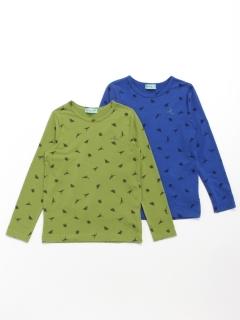 [ジュニアサイズ・セット商品]2枚組み長袖Tシャツ