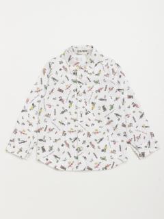 [ボーイズ]h/BOY トラベラープリント長袖シャツ