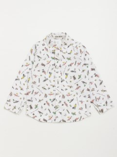 [ジュニアサイズ・ボーイズ]h/BOY トラベラープリント長袖シャツ