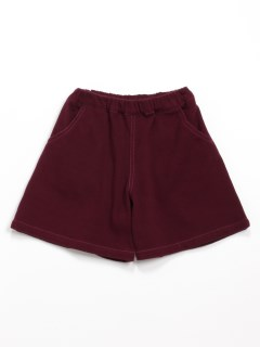 [ジュニアサイズ]ストレッチツイル花モチーフ付きキュロットスカート(らくちん)