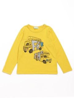 [ジュニアサイズ・ボーイズ]キャンピングカープリント長袖Tシャツ