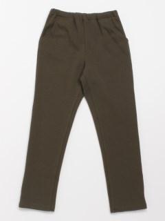 [ジュニアサイズ・ボーイズ]ポケット恐竜刺しゅう裏毛裏フリース起毛パンツ(らくちん・あったか)