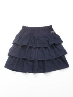 [ジュニアサイズ]ガーゼジャガードインナーパンツ付きスカート