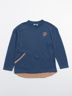 [ジュニアサイズ・ボーイズ]切替ポイントボリュームシルエット長袖Tシャツ