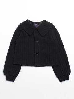 [ジュニアサイズ]ニットソーショート丈ジャケット