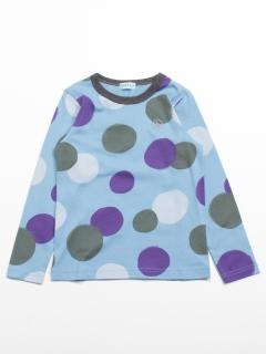 [ジュニアサイズ]カラフルドットプリント長袖Tシャツ