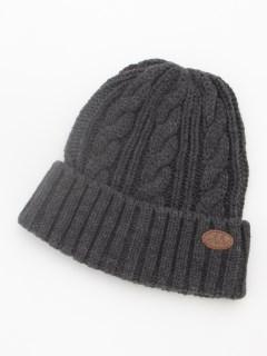 ワンポイントニット帽子(あったか)