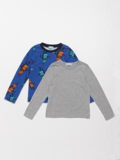 [ボーイズ]ロボットプリント裏毛トレーナーTシャツセット(セット商品)