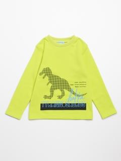 [ボーイズ]恐竜プリント裏毛スウェットトレーナー