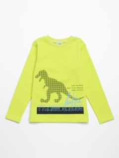 [ジュニアサイズ・ボーイズ]恐竜プリント裏毛スウェットトレーナー