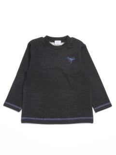 [ボーイズ]ダブルジャージー起毛長袖Tシャツ