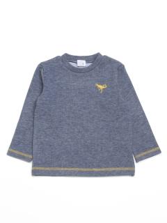 [ジュニアサイズ・ボーイズ]ダブルジャージー起毛長袖Tシャツ