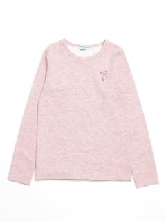 [ジュニアサイズ]ダブルジャージー起毛長袖Tシャツ